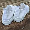 Сліпони білі мокасини літні кросівки сітка текстиль жіночі легкі сліпони білі кросівки сітка арт 685, фото 3