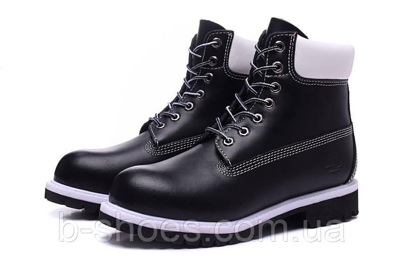 Ботинки мужские Timberland 6-inch Waterproof Boots Black/White