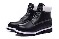 Ботинки мужские Timberland 6-inch Waterproof Boots Black/White, фото 1