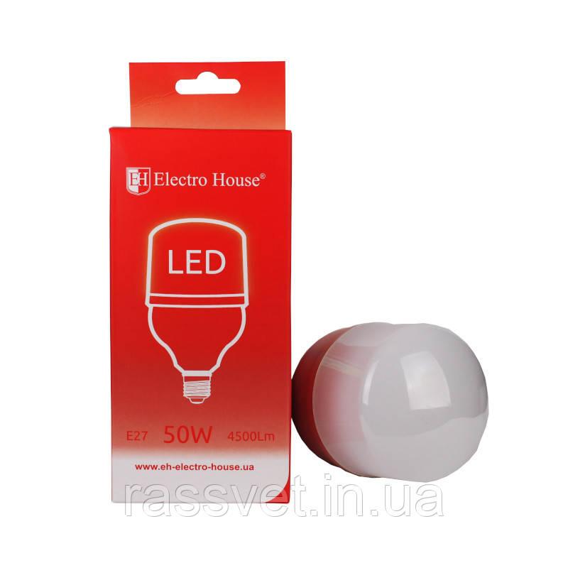 ElectroHouse LED лампа E27 / 4100K / 50W 4500Lm /270° T120