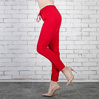 Женские летные брюки софт. Красные. Норма. Опт