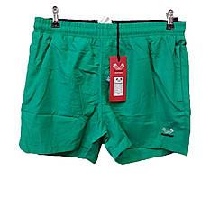 Мужские шорты Rowinger для плавания из плащевки  однотонные Зеленые