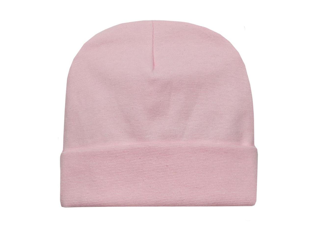 Шапочка для девочки розовая
