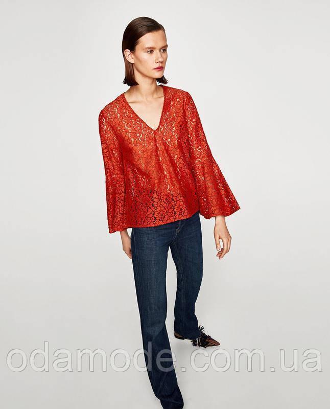 Женская блуза ZARA красная
