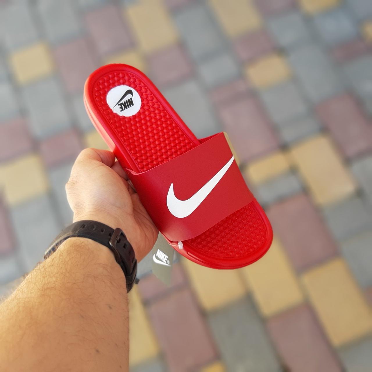 Женские сланцы Nike Red,реплика