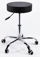 Стул мастера Key без спинки на колесиках эк черный CH-Office, мебель для салонов красоты 10465