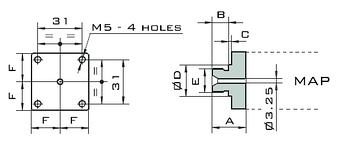 Адаптер Oleodinamica Mozioni под реле давления MAPM 1/4
