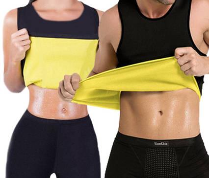 Майка сауна для похудения Hot Shapers Унисекс высокий вырез (р-р XL), фото 2
