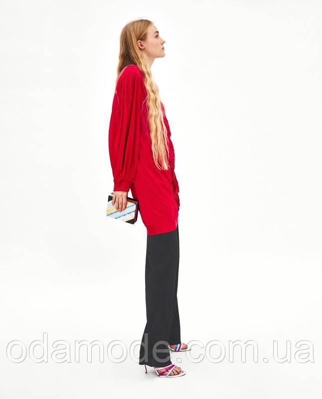 Женское платье-туника  ZARA красное