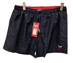 Шорты мужские для пляжа Rowinger плащевые Темно-синие с красной резинкой