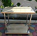 Прикроватный журнальный столик на колесах  Loco дуб сонома, фото 4