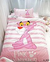 """Постельное белье """"Pink Panther"""" полуторный размер бязь"""