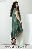Повседневное платье свободного кроя из легкого софта в мелкий горох, размера Размер  50, 52, 54, 56, фото 4