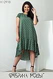 Повседневное платье свободного кроя из легкого софта в мелкий горох, размера Размер  50, 52, 54, 56, фото 6