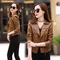 Женская кожаная куртка косуха. Модель 2055, фото 2