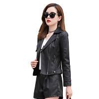 Женская кожаная куртка косуха. Модель 2055, фото 3