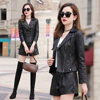 Женская кожаная куртка косуха. Модель 2055, фото 5