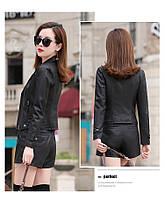 Женская кожаная куртка косуха. Модель 2055, фото 7
