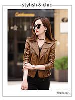 Женская кожаная куртка косуха. Модель 2055, фото 8