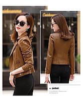 Женская кожаная куртка косуха. Модель 2055, фото 9
