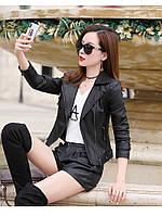 Женская кожаная куртка косуха. Модель 2055, фото 10