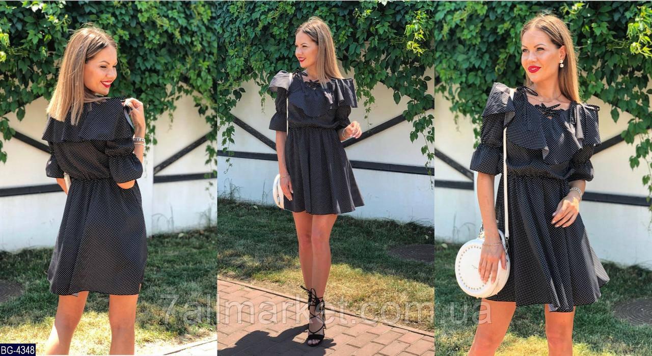 """Платье женское с воланом мод. 130 (L, M, S, XS) """"N.N.C.FASHION"""" недорого от прямого поставщика"""