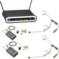 Наголовный радиомикрофон Shure 2070-2 ( 2 белых (черных) петличных радиомикрофона на одной базе )