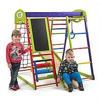 "Детский спортивный уголок для дома ""Юнга"" ТМ SportBaby, размеры 1.3х1.24х1.32м"