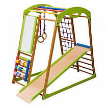 "Детский спортивный уголок для дома ""BabyWood Plus"" ТМ SportBaby, размеры 1.3х0,85х1.32м"