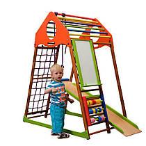 """Детский спортивный уголок для дома """"KindWoodPlus"""" ТМ SportBaby, размеры 1.5х0.85х1.32м"""