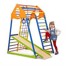 "Детский спортивный уголок для дома ""KindWood Color"" ТМ SportBaby, размеры 1.5х0.85х1.32м"