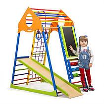 "Детский спортивный уголок для дома ""KindWood Color Plus"" ТМ SportBaby, размеры 1.5х0.85х1.32м"
