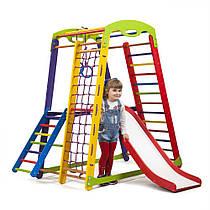 Детский спортивный уголок для дома «Кроха - 1 Plus 2» ТМ SportBaby, размеры 1.5х0.85х1.32м