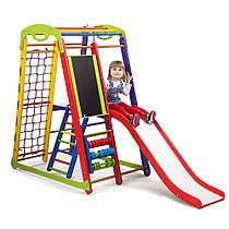 Детский спортивный уголок для дома «Кроха - 1 Plus 3» ТМ SportBaby, размеры 1.5х0.85х1.32м
