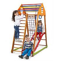 Детский спортивный уголок для дома «BambinoWood Plus 1» ТМ SportBaby, размеры 1.7х0.85х1.32м