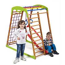 Детский спортивный уголок для дома «BabyWood Plus 1» ТМ SportBaby, размеры 1.3х0.85х1.32м