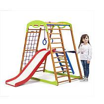 Детский спортивный уголок для дома «BabyWood Plus 2» ТМ SportBaby, размеры 1.3х0.85х1.32м