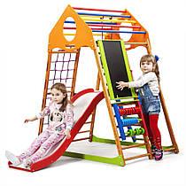 Детский спортивный уголок для дома «KindWood Plus 3» ТМ SportBaby, размеры 1.5х0.85х1.32м