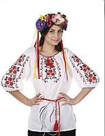"""Блуза з вишивкою натуральний батист """"Рози"""", фото 1"""