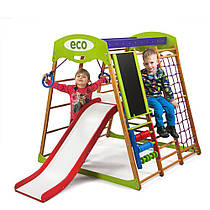 "Детский спортивный уголок для дома ""Карамелька Plus 3"" ТМ SportBaby, размеры 1.3х1.24х1.32м"