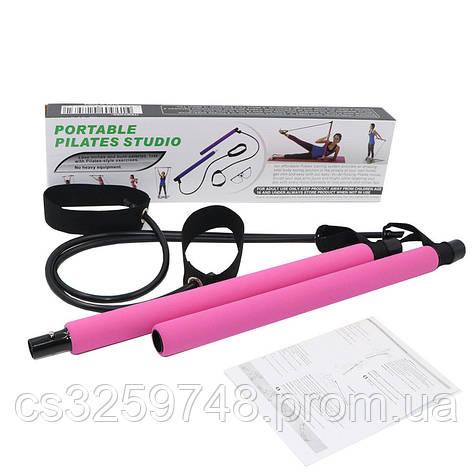 Тренажер для занять пілатесом портативна студія пілатесу Portable Pilates Studio рожевий, фото 2