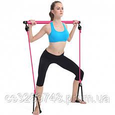 Тренажер для занять пілатесом портативна студія пілатесу Portable Pilates Studio рожевий, фото 3