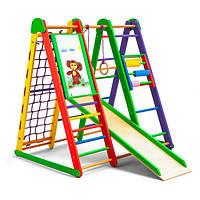 """Детский спортивный уголок для дома """"Эверест"""" ТМ SportBaby, размеры 1.3х1х1.24 м"""
