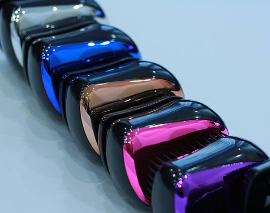 """Компактная антистатическая массажная расческа для распутывания волос """"Металлик"""" 8 см / микс 5 цветов, фото 2"""