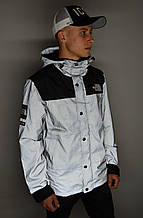 Рефлективная куртка Supreme x The North Face(Куртка Серая) Реплика
