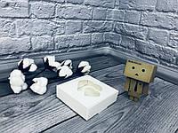 *10 шт* / Коробка для пряників / 100х100х30 мм / Біла / вікно-2 Серцем / лк, фото 1
