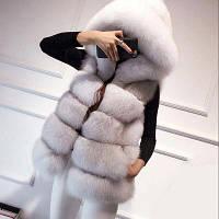 Женская меховая жилетка. Модель 61708, фото 10