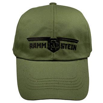 Бейсболка РАМШТАЙН Logo оливковая, фото 2