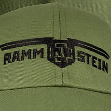 Бейсболка РАМШТАЙН Logo оливковая, фото 3