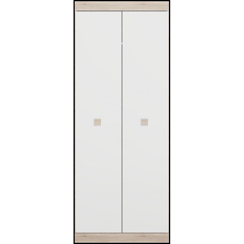 Шкаф 800 Соната Эверест Дуб сонома/Белый